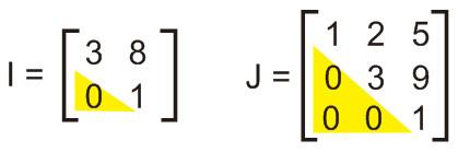 matriks segitiga atas
