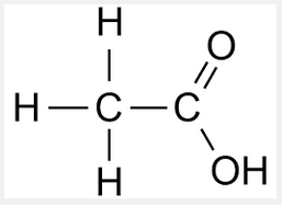 struktur molekul acetic acid