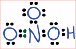 struktur lewis HNO3