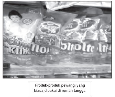 produk pewangi yang biasa dipakai dalam rumah tangga