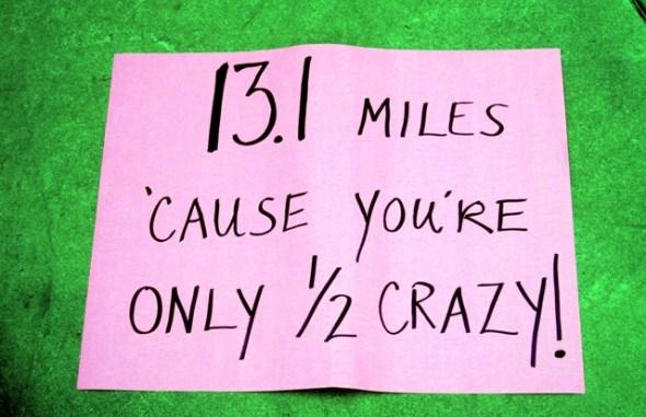half marathon spectator signs