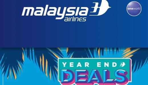 JCG修行(JAL修行)に使える!マレーシア航空ビジネスクラスが期間限定セール!(YEAR END DEALS)2019年搭乗分