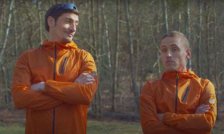 Denis Brogniart met CLaude Dartois et Benoit Girondel à l'épreuve de Koh-Lanta au travers d'un test des semelles Asics.