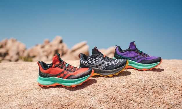 Saucony Endorphin Trail, la technologie SpeedRoll offrira une course rapide et dynamique sur les sentiers.
