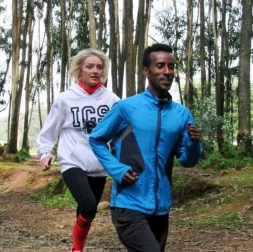 Run Africa visiting runner Claire from Norway