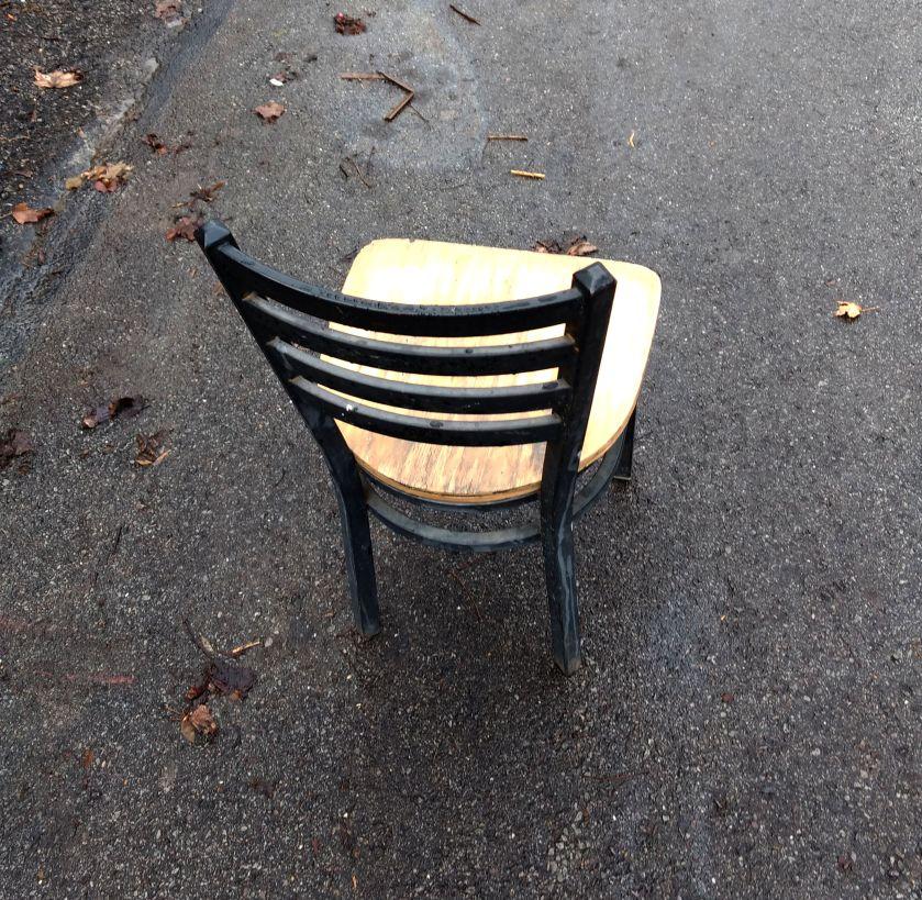 Chair for saving parking spot