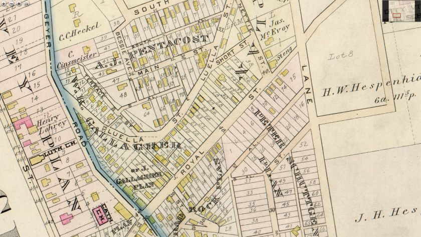 Old Map of Luella Street