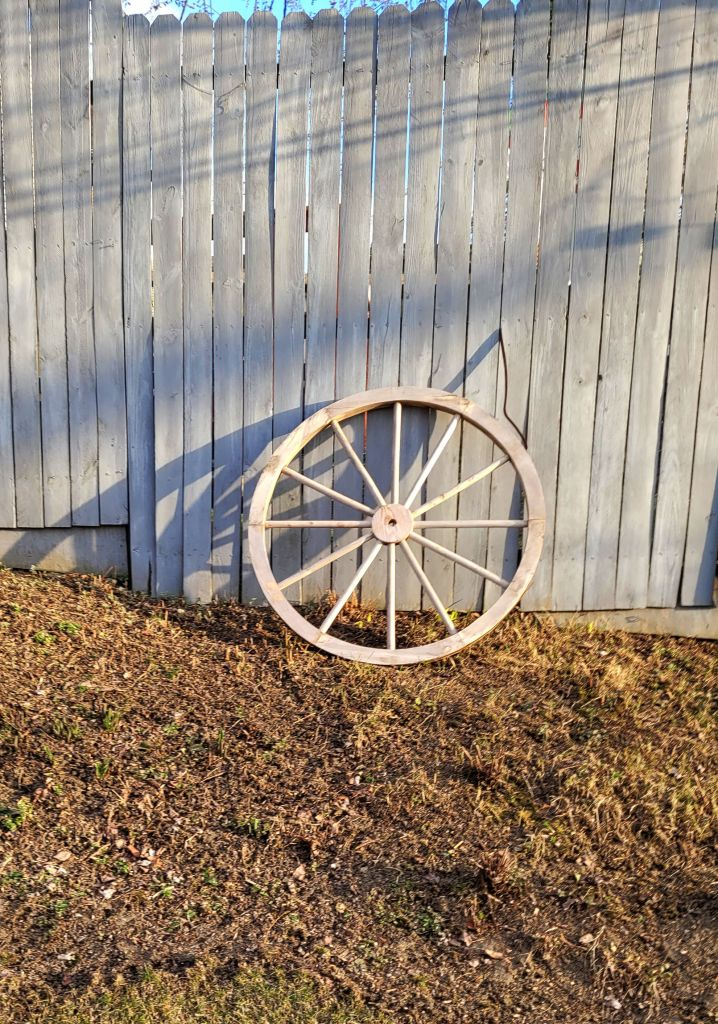 Wagon Wheel in Alley