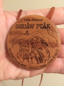 2015 Squaw Peak 50 Medal