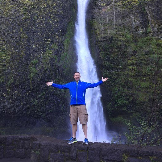 In front of Wahkena Falls