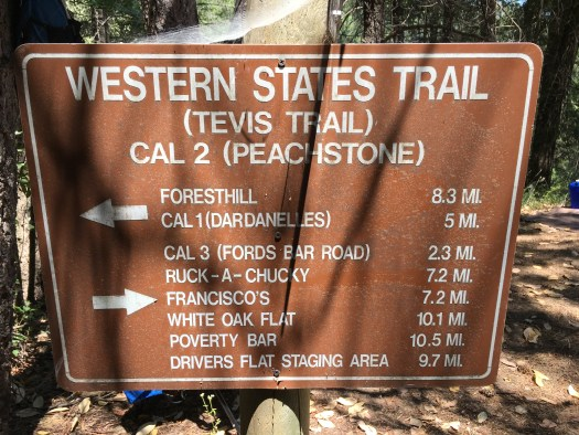 Western States Trail Marker