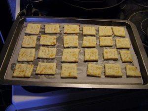 fresh-baked crackers