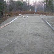 framework for cement pad