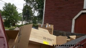 investments for a new farm cardboard sheet mulch in truck