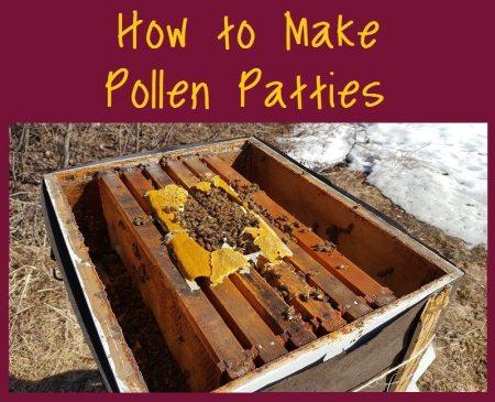 how to make pollen patties