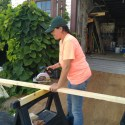 learning to use a power saw