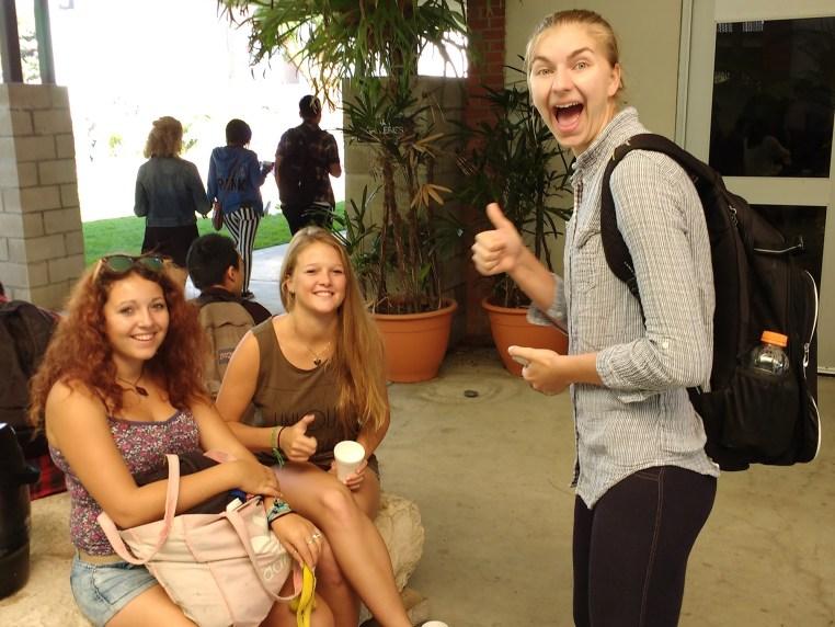 Zeinab Greif, Stefanie Kuisle & Nele Barber at the CSULB School of Art, Art Gallery Courtyard