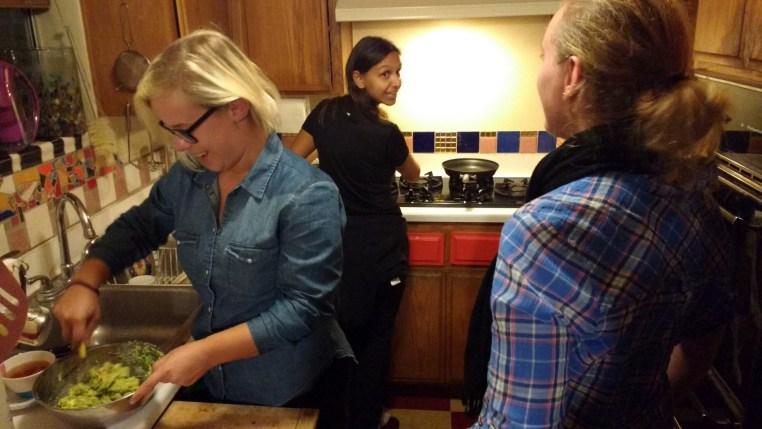 Suus in the kitchen making guacamole