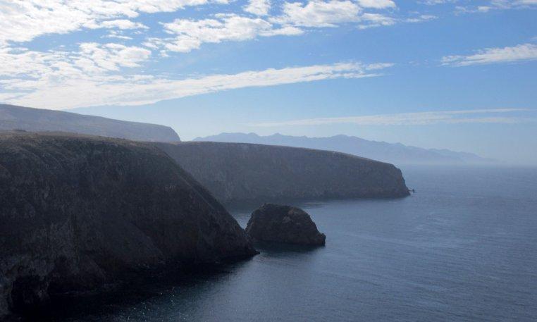 scenic view of Santa Cruz Island