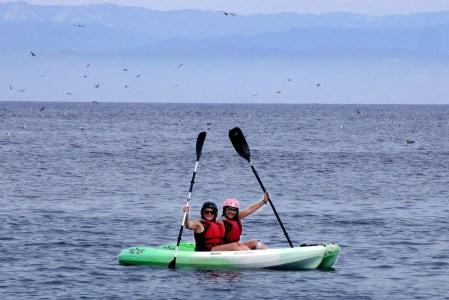 Kayaking Santa Cruz Island