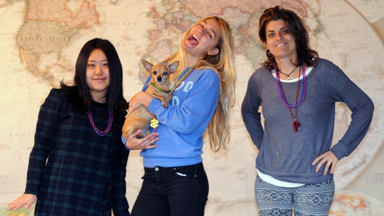 four students tour the facilities at RULA's (Runaway University Los Angeles) New Taipei Campus