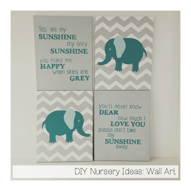 This Graphic Modern Diy Wall Art Idea Is Perfect For A Hip Nursery Bedroom