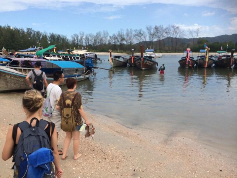long boats Krabi to Rai Lay