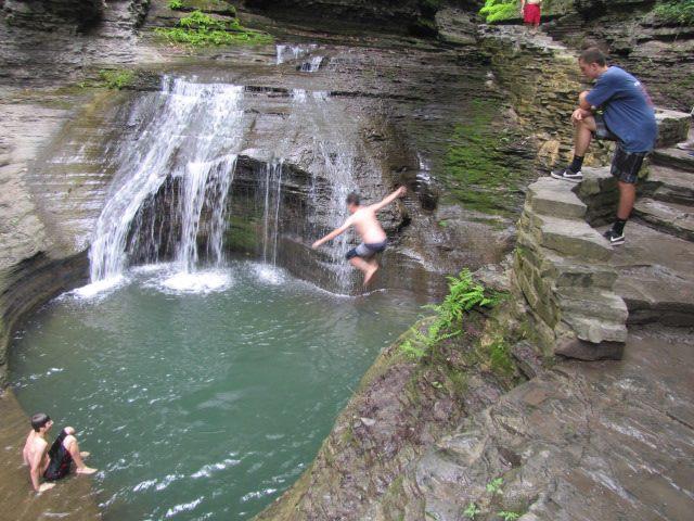 Waterhole on hike at Buttermilk Falls