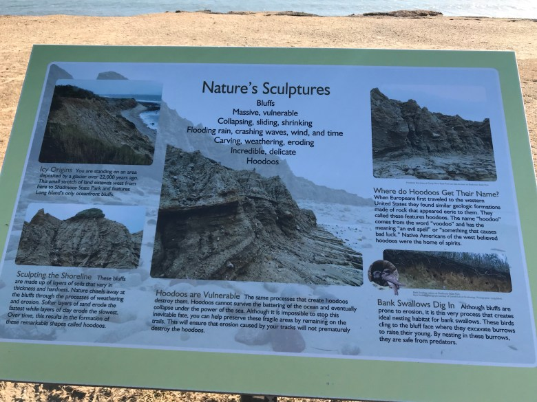 Montauk Hoodoos - erosion on cliffs