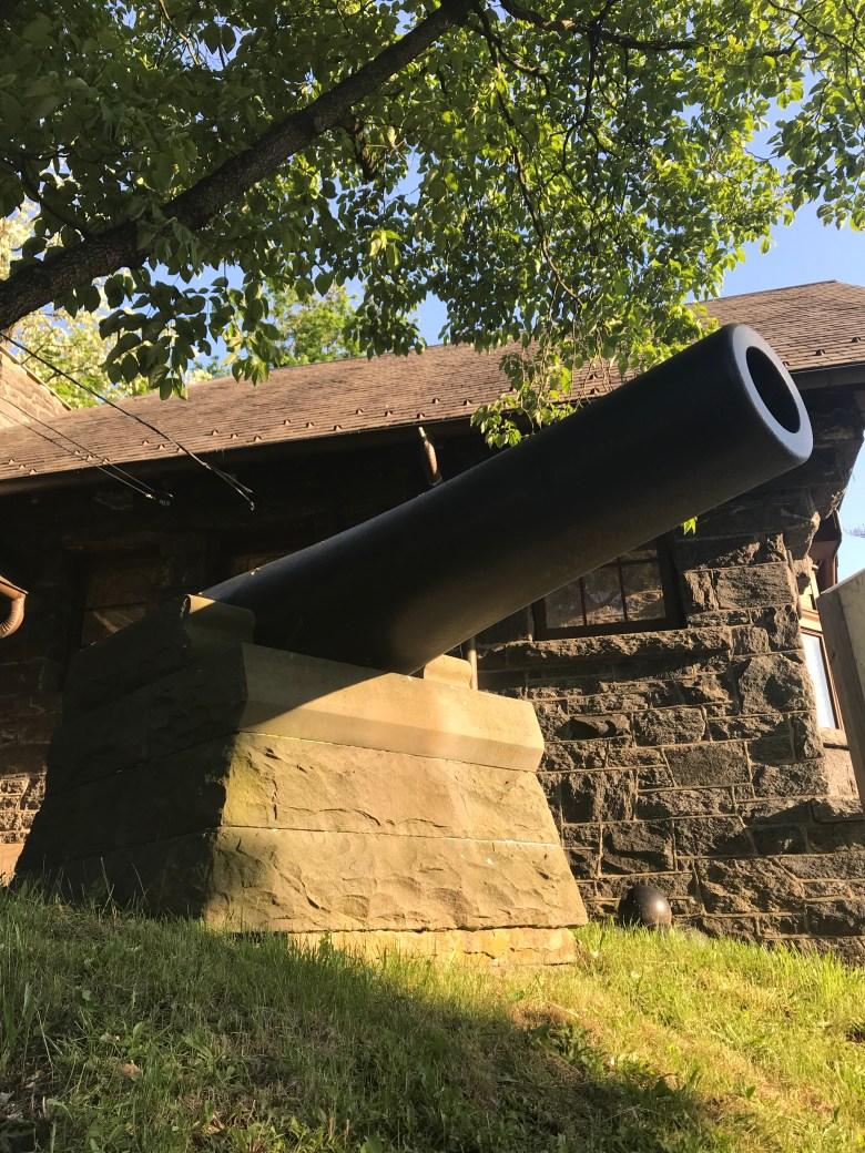 cannon in Huntington Village
