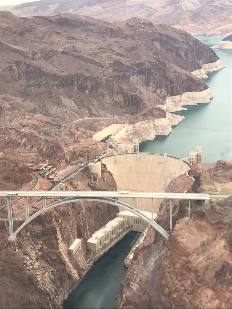 Hoover Dam helicopter view