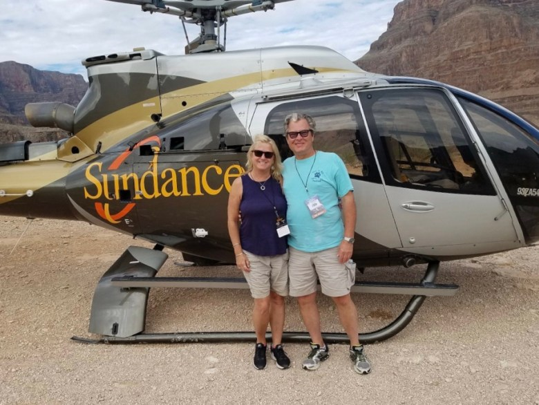 Helicopter ride to Grand Canyon