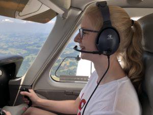 Begabte Co-Pilotin