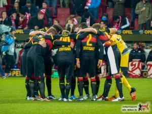 Beim VfB ist wieder Zusammenhalten angesagt, obwohl die Mannschaft den Verein erneut im Stich lässt. Bild © VfB-Bilder.de