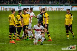 Der VfB hatte in der Abwehr seine liebe Mühe. Bild © VfB-Bilder.de