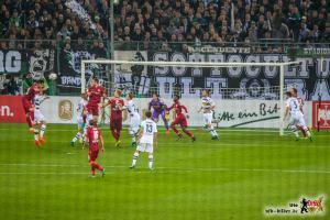 Der VfB scheiterte mit seinen Angriffen immer wieder an der Fohlenabwehr. Bild: © VfB-Bilder.de
