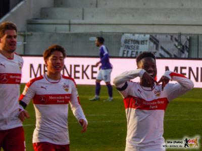 Doppeltorschütze Mané hat jetzt auch seinen signature move. © VfB-Bilder.de