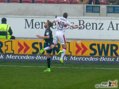 Kevin Großkreutz hatte erneut nicht den besten Tag. Bild: © VfB-Bilder.de