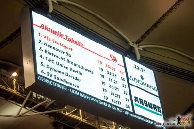 Hoffentlich auch in einer Woche noch: Spitzenreiter VfB. Bild © VfB-Bilder.de