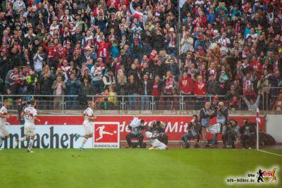 Chadrac Akolo erneut mit einem guten Spiel, leider auch mit einer Verletzung. Bild: © VfB-Bilder.de