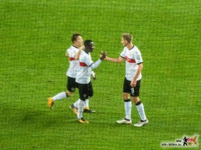 Akolo und Terodde - neben Ginczek die Matchwinner. Bild: © VfB-Bilder.de