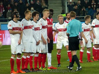 In der zweiten Halbzeit musste der VfB mehr nach hinten arbeiten. Bild: © Frankys Stadionpics