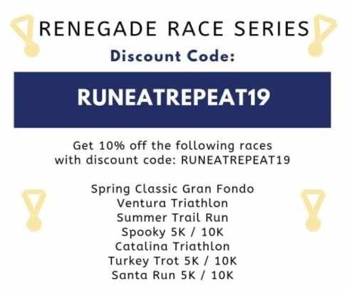 RENEGADE RACE SERIES Discount coupon code 2019