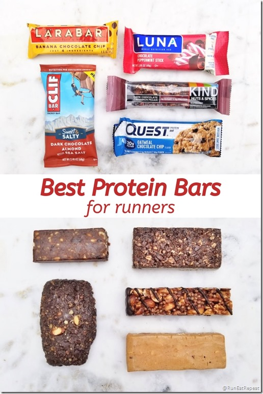 Best Protein Bars for runners running blog list