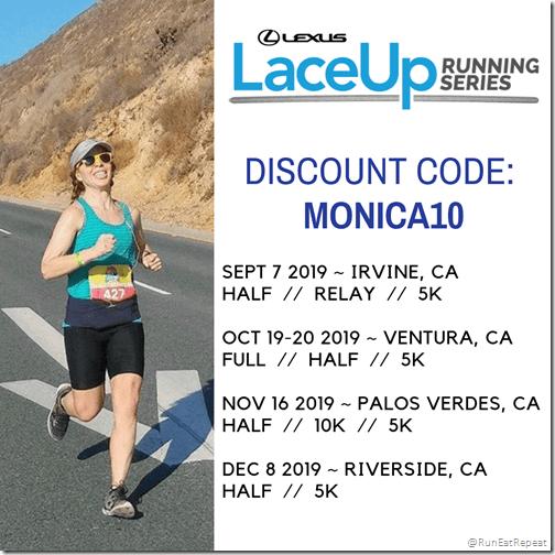 Lace Up Race Discount Code Irvine Ventura Palos Riverside Half Marathon 10K 5K run