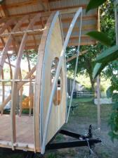 side view of rake rafters