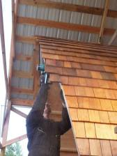 trimming the shingles