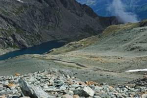 Irontrail 2014; Aufstieg zum Lunghinpass; hinten: Lunghinsee