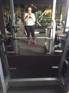 Millie in the gym