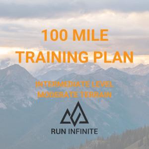 Trail running training plan 100 mile